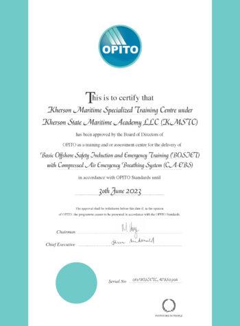 OPITO BOSIET with CA-EBS Standard Code: 5750