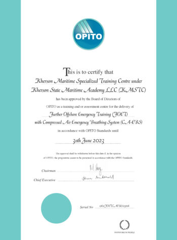 OPITO FOET with CA-EBS Standard Code 5850